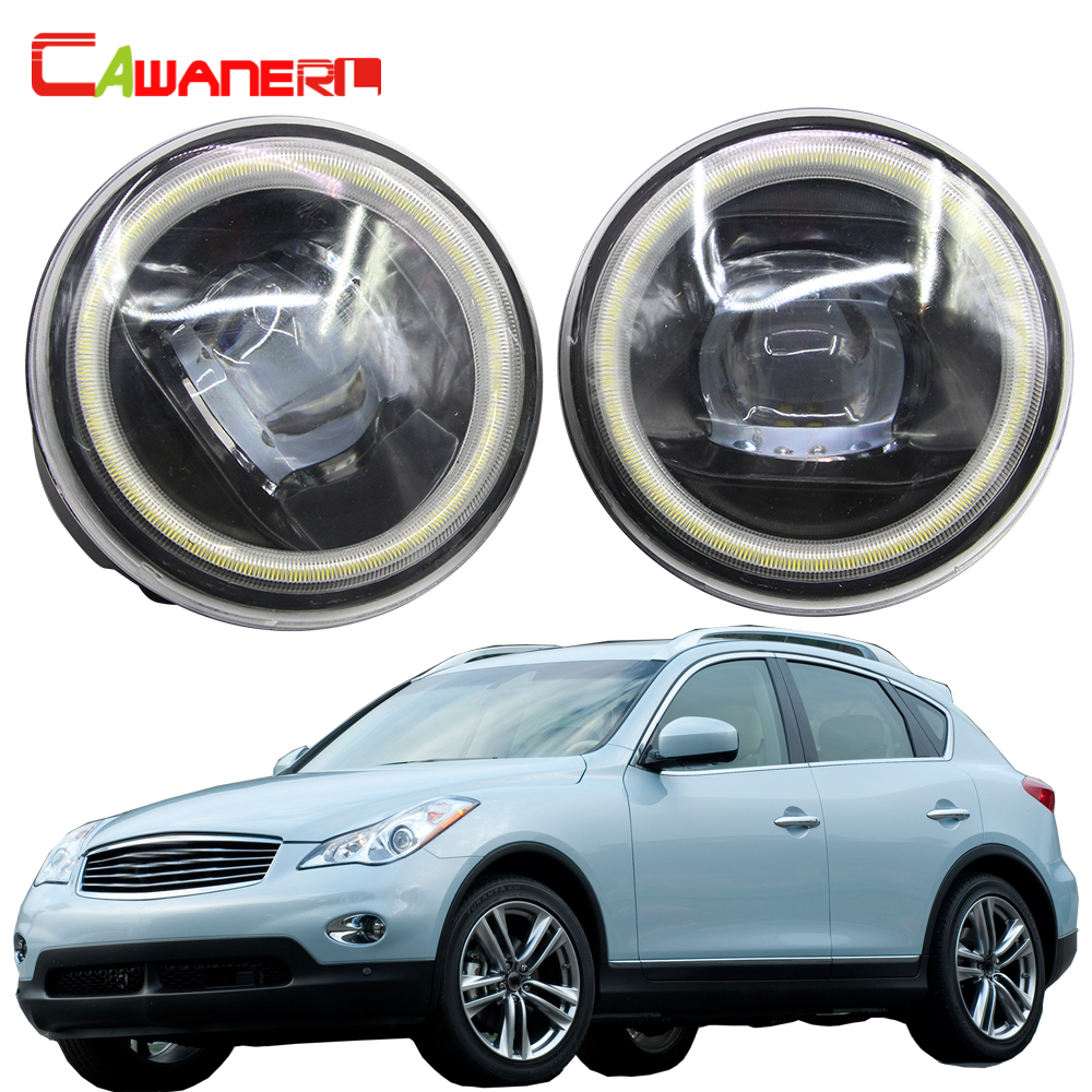 Cawanerl For Infiniti EX EX25 EX35 EX37 Car 4000LM LED Bulb H11 Fog Light Kit Angel Eye DRL 12V 2008 2009 2010 2011 2012 2013-in Car Light Assembly from Automobiles & Motorcycles    1