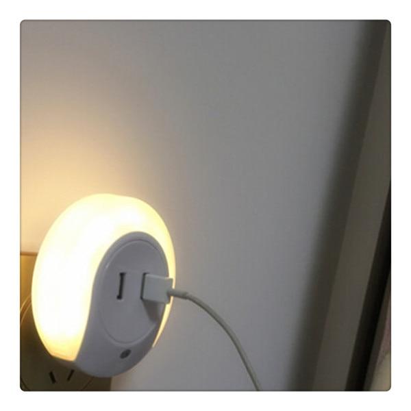 Varm! Smart design LED-nattlampa med ljusgivare och dubbla - Nattlampor - Foto 5