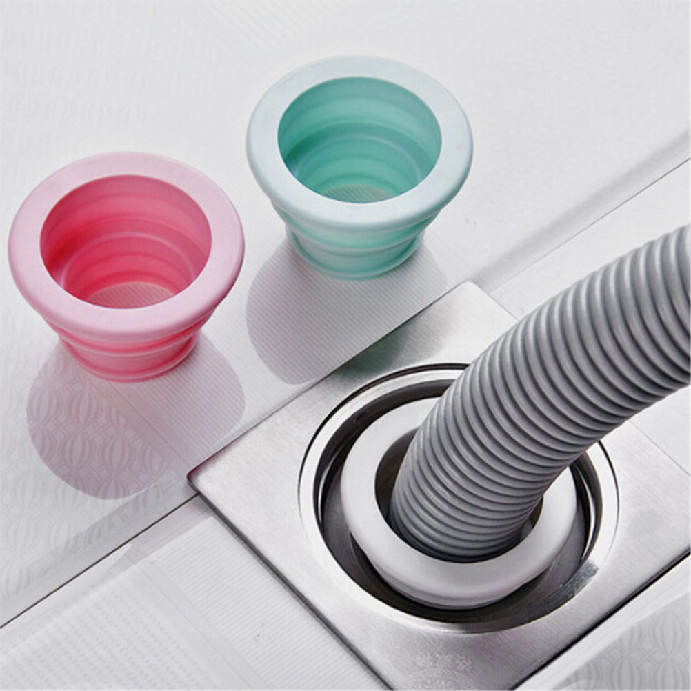 1PCS Silicone Sewer Pipe Drain Sealing Plug Anti-odor Water Ring Seal Accessories Tools Plastic Washing Machine Pool Seal Ring
