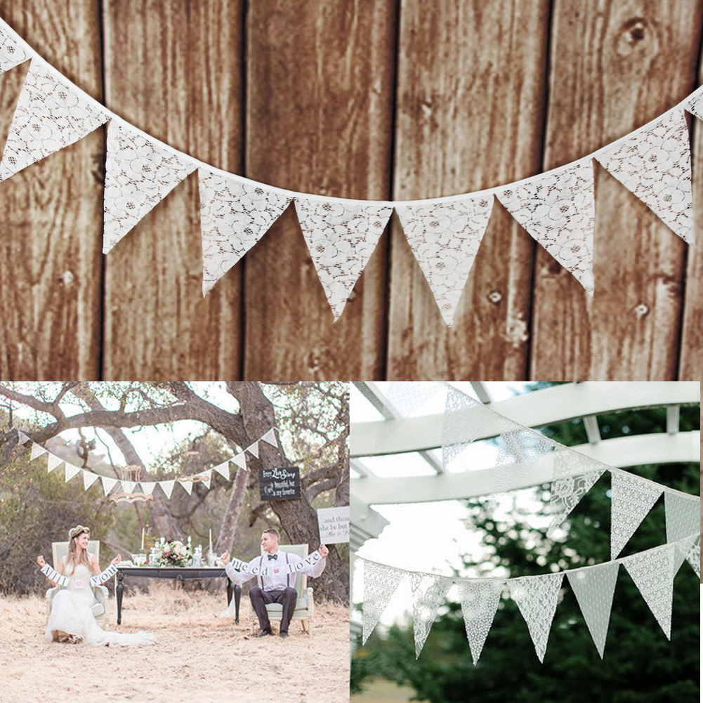 Handmade Tea Party Bunting 10ft//3m Lots Of Colours To Choose From 9 Fabric Flags