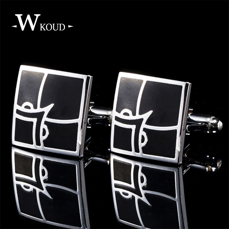 2018 high quality career Copper Allo cufflinks for mens sliver square luxury brand shirt cuff links wedding and father day gift
