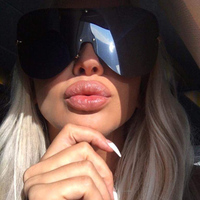 100 Polarized Oversized Women Rimless Integrated Lens Sunglasses Brand Designer Fashion Men Driving Fishing Goggle Glasses