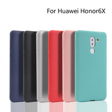 Silicone phone case for huawei honor6X cover candy color soft tpu capa honor 6X matte coque