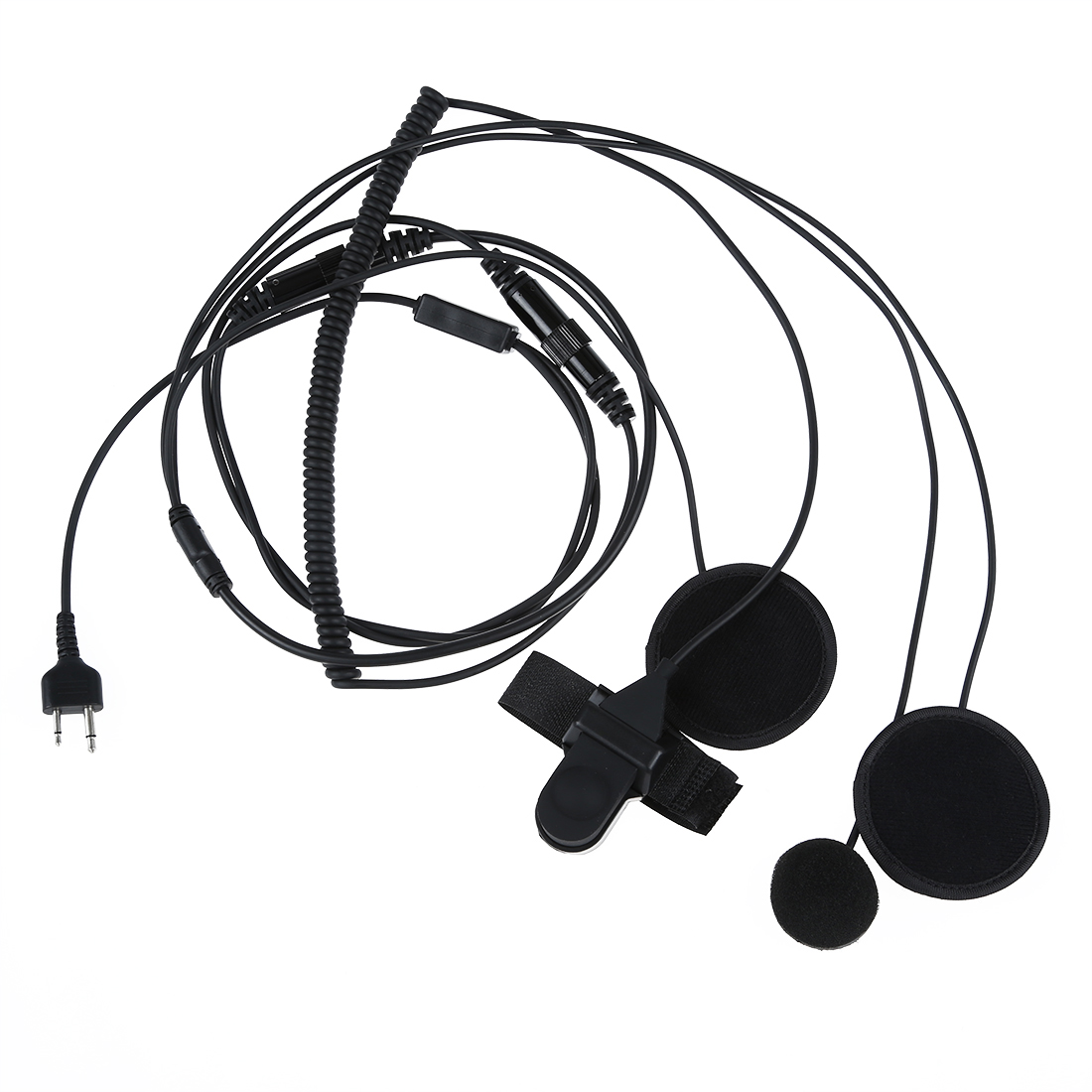 ФОТО Wholesale5pcs*2 pin two-way radios Full-face motorcycle moto bike helmet headset earphone microphone for Icom Maxon Yaesu vertex
