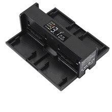 4 em 1 zangão portátil carregador de bateria para dji mavic conversor ar hub carregamento da bateria inteligente carregador dígito tela led