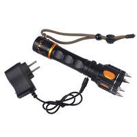 2000LM Taktik El Feneri Kamp Kendini Savunma LED Flaş meşale Işığı saldırı başkanları 5 modu Şarj Edilebilir XM-L LED T6 + AC şarj