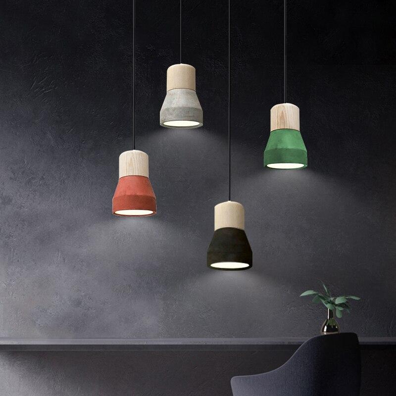 Super 2019 design nordic concrete pendant light minimalist cement Black RV-58