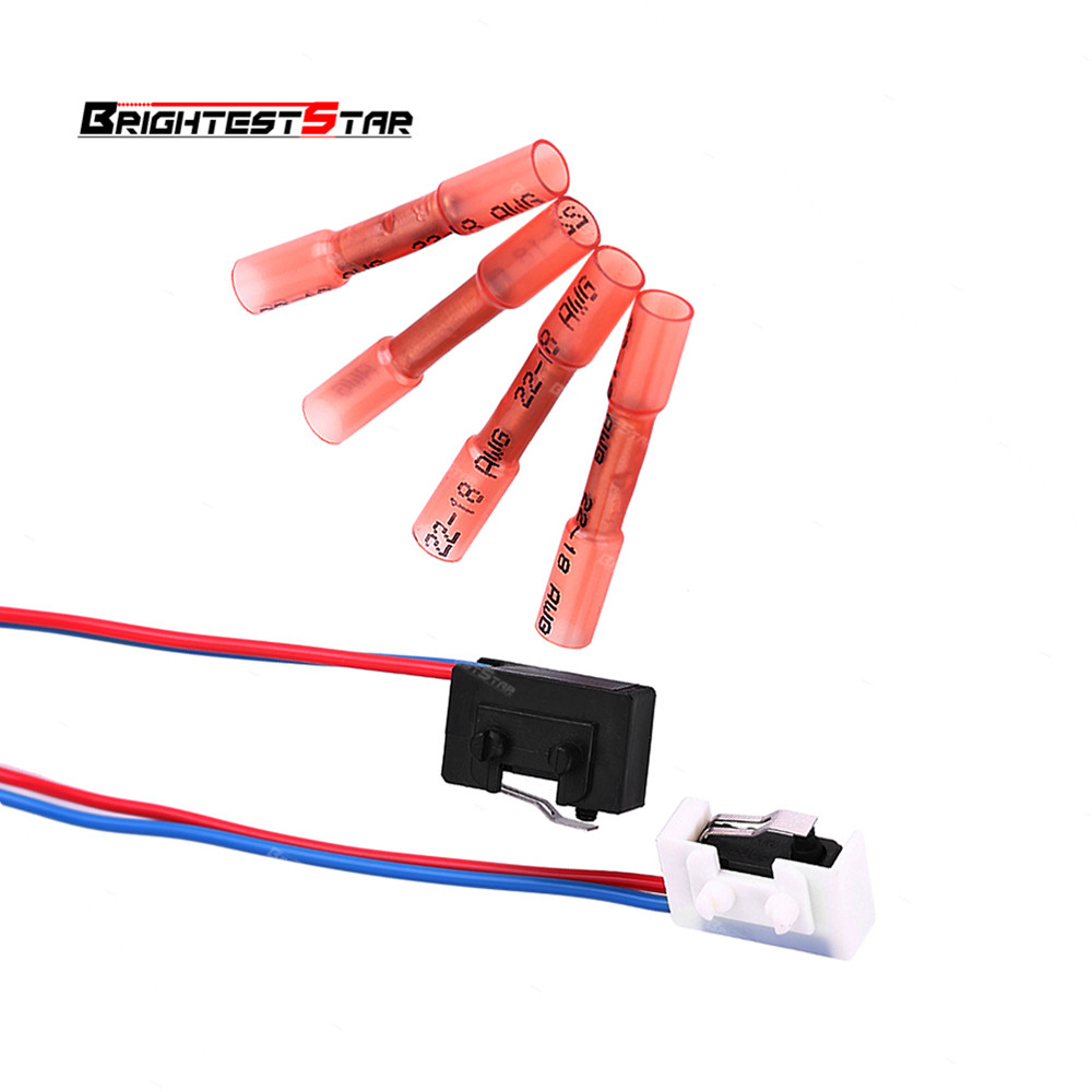 Left+Right Door Lock Micro Switch Wire Pipe Connector For VW Passat B5 BORA POLO GOLF MK4 1999-2005 3BD998786 3BD998785