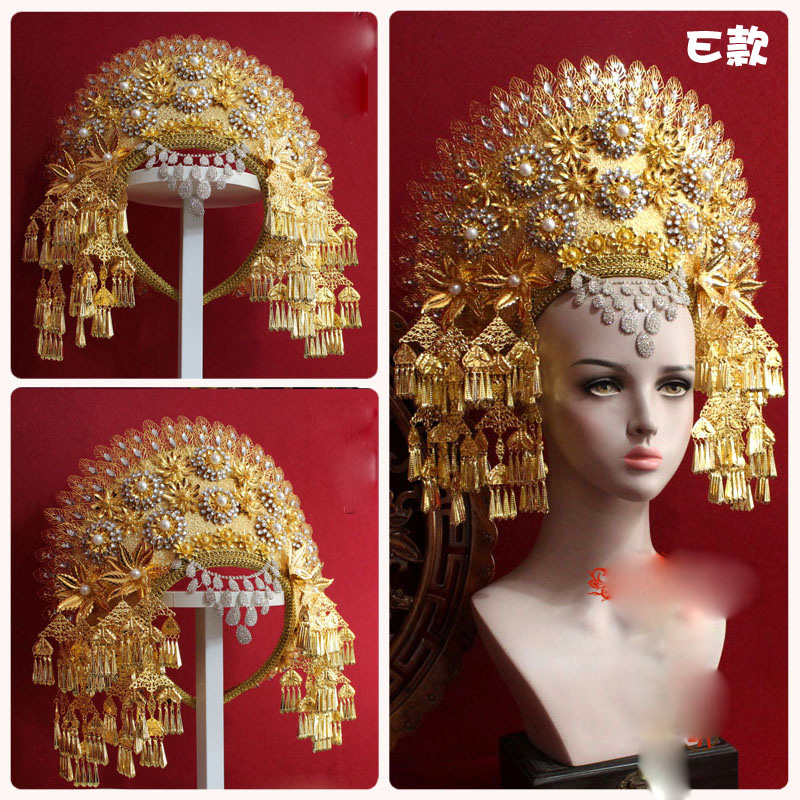 Image 3 - 8 Designs Top Quality Thailand Royal Palace Princess Crown Chinese TV Play Fighter of The Destiny Queen Crown Ze Tian JiWomens Hair Accessories   -