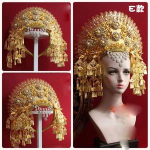 Image 3 - 8 デザイントップ品質タイロイヤルプリンセス髪ティアラ古代中国の衣装ヘアアクセサリーテレビ再生女王ヘア王冠の宝石