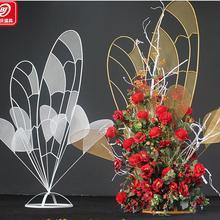 Тип свадебных реквизитов основной стол цветок цветочное устройство бабочка, любовь, цветок устройство на открытом воздухе Свадьба Подиум дорога свинец