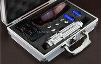 Усиленный лазерный прицел Синий лазерная указка 2000000 м 200 Вт 450nm фонарик горящая спичка/сухой древесины/черный/сигареты + очки подарочная кор