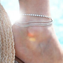 1 PC Multi-layer Crystal Anklet Foot Chain Summer Bracelet Charm Anklets  Beach Foot Wedding 4fa683011592
