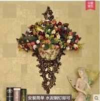Euclidean retro suspension creative American home wall decoration is hanging decorative wall decorative vase