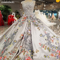 LS00256 Lace Flowers Luxury See Through Back Gowns Evening Dresses 2017 Real Photos Vestidos De Fiesta
