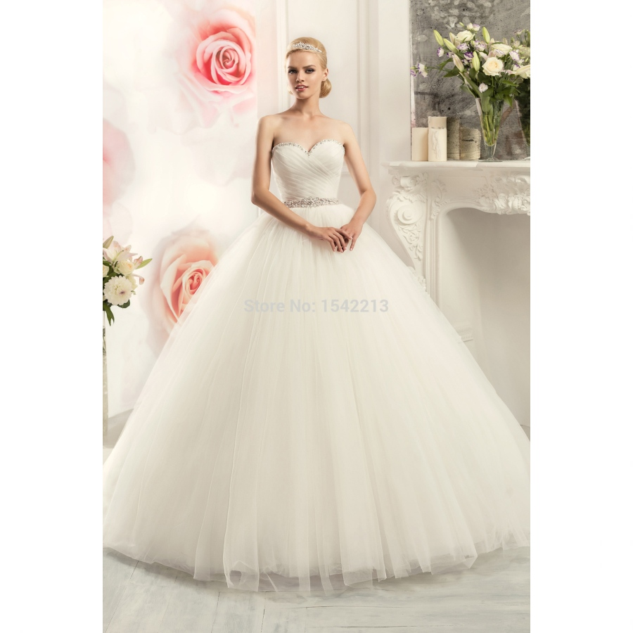 Wedding Gowns With Sashes: 2017 Cheap Sweetheart Ball Gown Wedding Dress Shiny Beaded