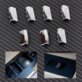 New 7Pcs Chrome Door Window Switch Lift Button Cover Trim For Toyota RAV4 Corolla 2014 / Yaris 2005 2006 2007+