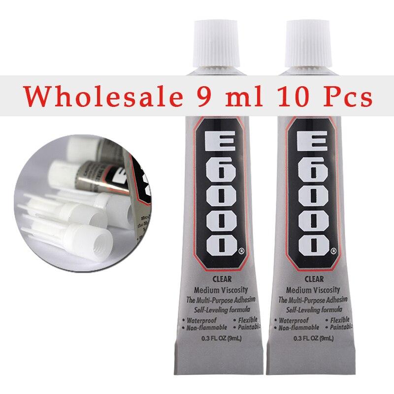 100% натуральная кожа! 10 трубок E6000, клей 9 мл, используется для изготовления ювелирных изделий из ткани со стразами и плоской задней поверхнос...