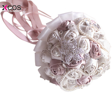 Weddings Events - Wedding Accessories - In Stock Gorgeous Beaded Crystal Wedding Bouquet Ivory Rose Bridesmaid Flowers Artificial Sapphire Pearl Bridal Bouquets