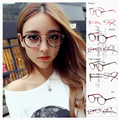 Fashion Summer Style Womens Brand Sunglasses Frame Round Vintage Myopia Glasses Frame Ultralight Plain Mirror Floral Leopard