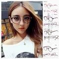 Moda de verano estilo de la marca para gafas de sol redondo Vintage miopía gafas ultraligero capítulo llanura espejo Floral Leopard
