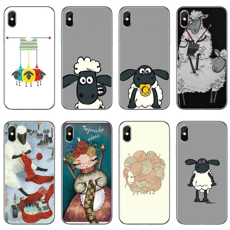 Knitting Meditation cartoon sheep For Nokia 2.1 3 3.1 5 5.1 6 7 plus 8 9 LG G5 G6 G7 Q6 Q7 Q8 V30 2017 2018 TPU Soft phone case