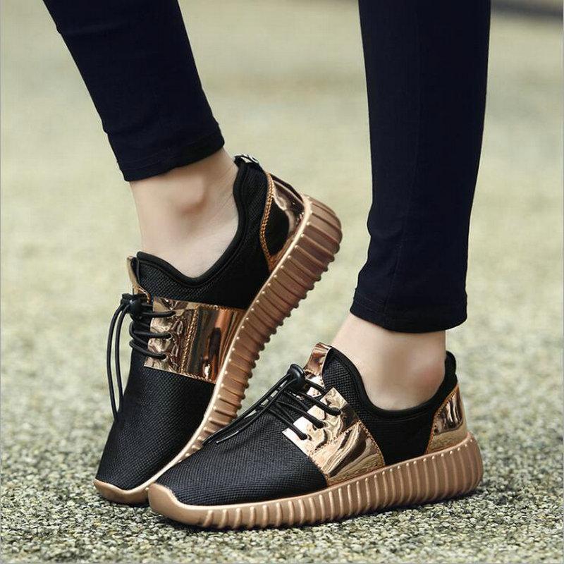 Sport Plat Mode Marche 32 or Nouvelle En Plein argent D'été 46 36 Chaussures Hommes Grande Nn Noir De Respirant Automne Air Couple Sneakers Taille qnUPWOc8