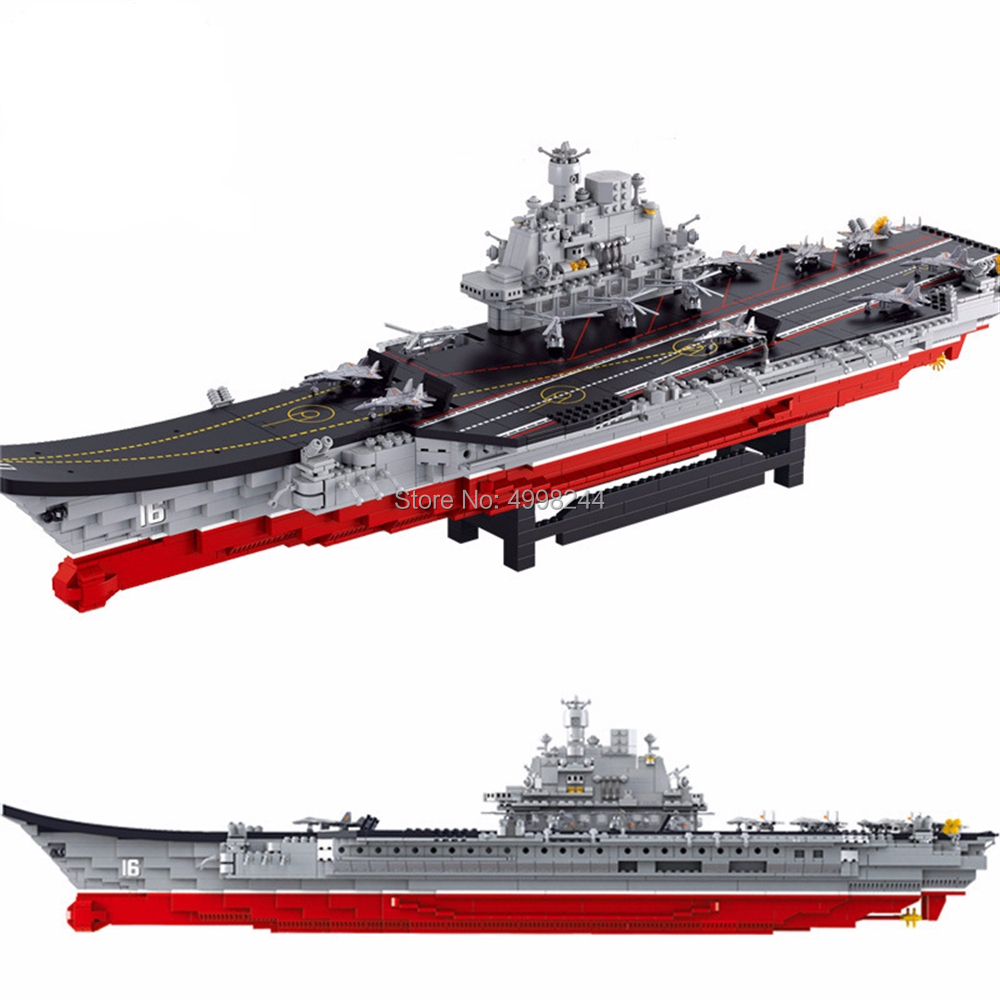 sluban 0388 1875pcs military aircraft carrier helicopters stealth battleplane patrol yachts building block Bricks Toy