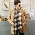 New Man's Wool Spinning British Grid Scarf the Winter Keep Warm Scarves with Tassels for Woman High Quality Hot Sale SHI167224