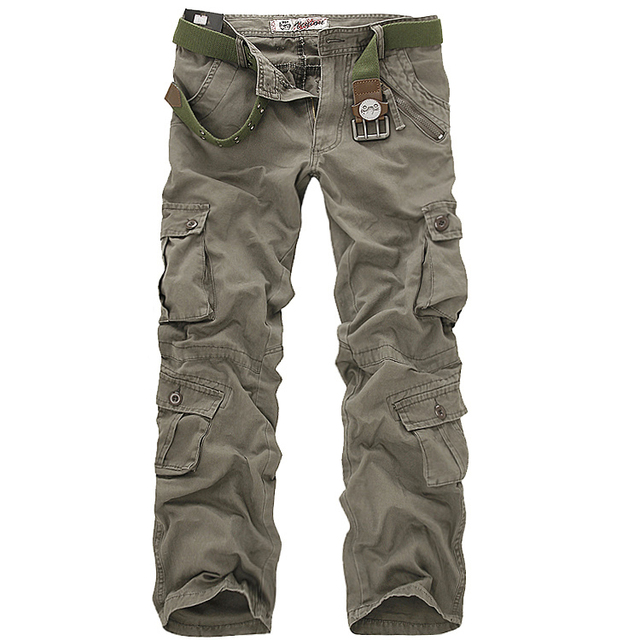 Hot sale free shipping men cargo pants camouflage  trousers military pants 7 colors 2