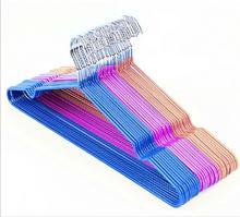 20pcs lot 40cm Non Slip Metal Shirt Trouser Hook Hanger PVC Plastic And High Manganese Steel