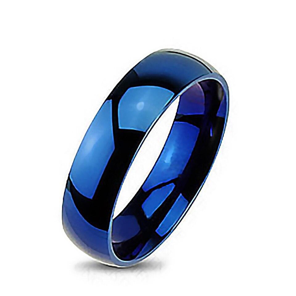 Blue Dome Tungsten Carbide Wedding Bands Vintage Mirror Engagement