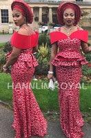 Высший сорт красного и серебристого цвета в африканском стиле; ажурная органза, кружево Нигерия сад кружевная ткань для шитья подходит к аш