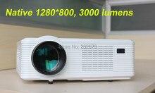 El más nuevo!!! estéreo Altavoz Daul Channel 2000:1 Relación de Contraste 3000 Lumens Nativo 720 p de Bajo Ruido HD Proyectores