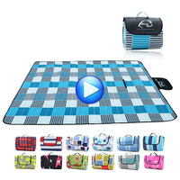 2M 1 5M Ground Mat Outdoor Picnic Mat Camping Baby Climb Plaid Blanket Beach Waterproof Picnic