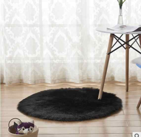 Urijk дома круглый ковер Имитация Шерсть плюшевые ковер для гостиной постельное белье коврики ковер витрину коврик окно фона Мат