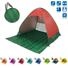Tourist Fishing Ultralight Folding Tent Automatic Open Pop Up Tent Outdoor Camping Beach Anti-UV Fully Sun Shade Family Tent цена 2017