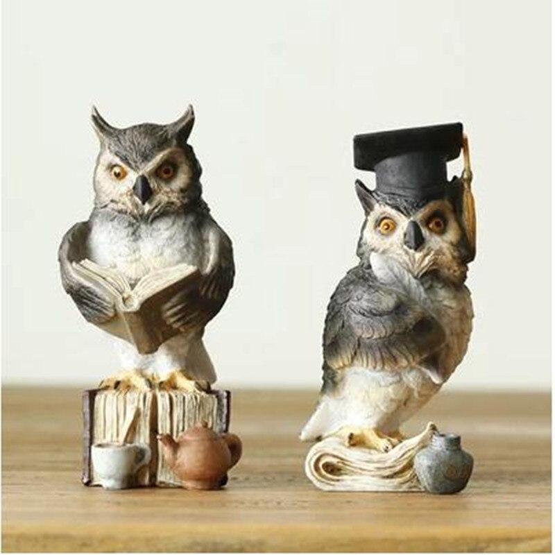 Pryskyřice sova dekorativní řemesla, maturitní dárky, kreativní zvířata