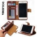 Марка 2 в 1 Съемная Роскошные Карты Слоты Держатель Кожаный Бумажник Case откидная Крышка Для iPhone 5 5S SE 6 6 Plus 7/7 Плюс Для Samsung