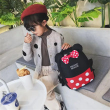 New fashion girl Mickey backpack high quality youth canvas female student shoulder bag mochila