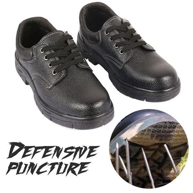 Su geçirmez Güvenlik iş ayakkabısı anti-delinme Anti-smash Sert Darbe Dayanıklı Güvenlik Ayakkabıları Çelik Sakız Elastik Güvenlik Erkekler çizmeler