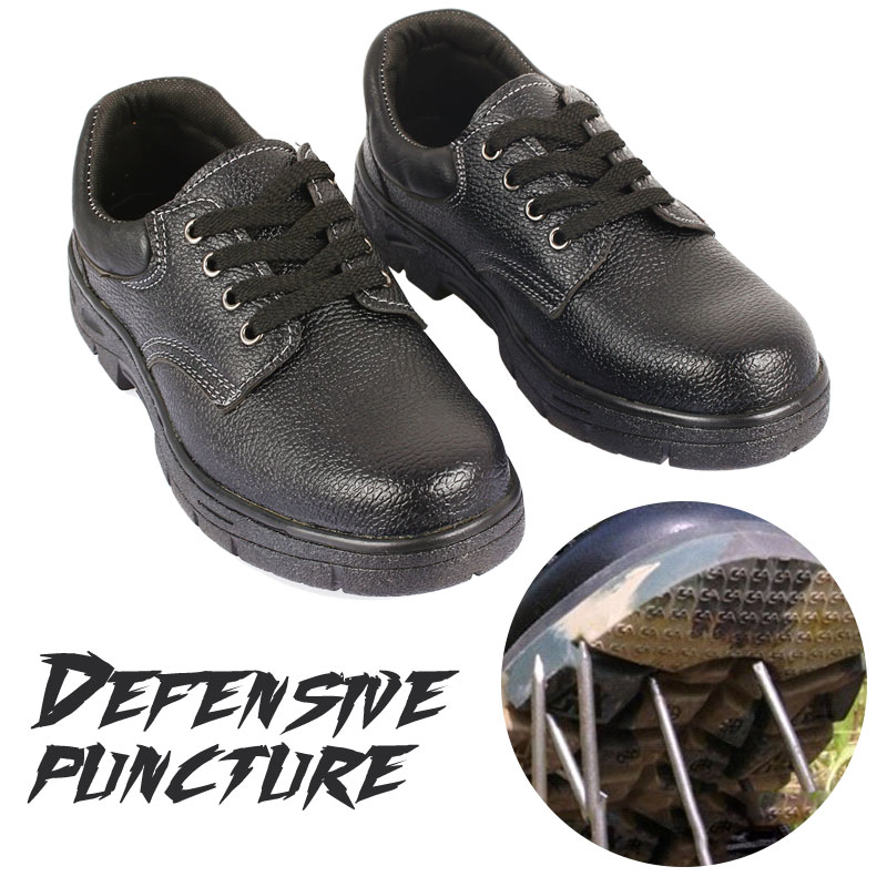 Waterproof Safety Work Shoes Anti-puncture Anti-smash Hard Impact Resistant Safety Shoes Steel Gum-Elastic Safety Men Boots