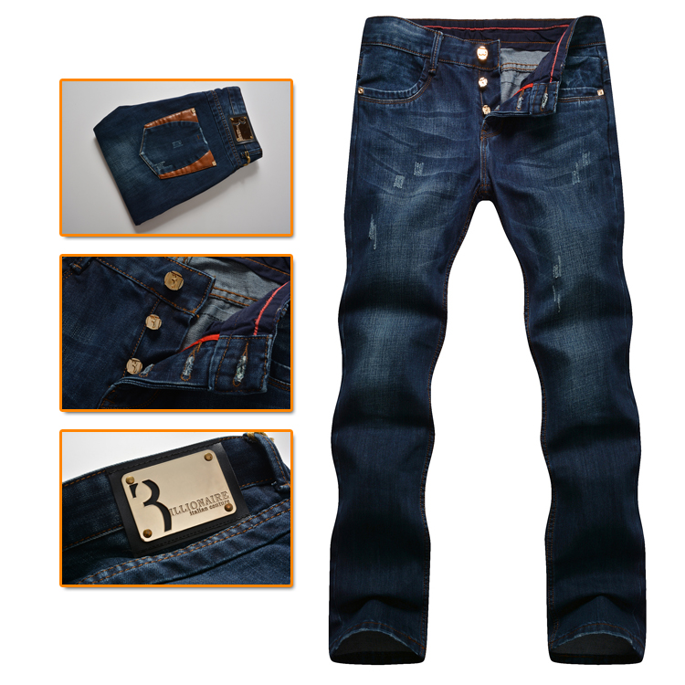 19e5d778af3f4 Billionaire italian couture men s jeans 2016 new style fashion commerce  embroidery high quality trouser free shipping