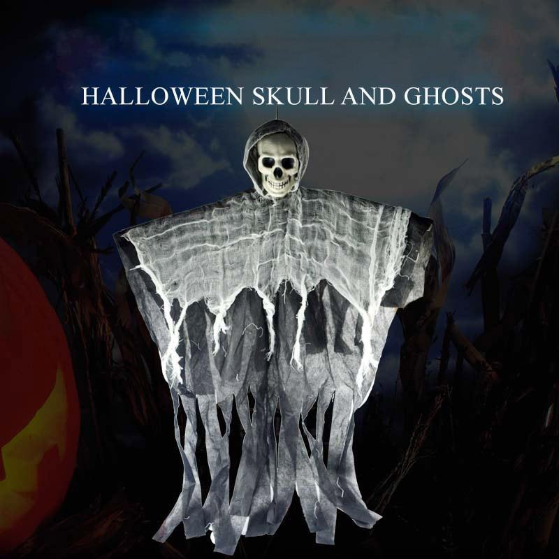 Novelty Skull Halloween Hanging Ghost Haunted House Grim Reaper Horror Props Home Door Bar Club Decor Novelty&Gag Toys