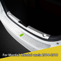 For Mazda 3 Mazda 3 Axela2014 2018 stainless steel rear door trunk decorative strip door refitting special rear guard plate
