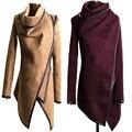 S-XXXL Пальто Для Женщин 2015 Новый Бренд Моды Лоскутное полный Рукавом О Шеи Девушки Траншеи Молния Крест Падения Пальто зима