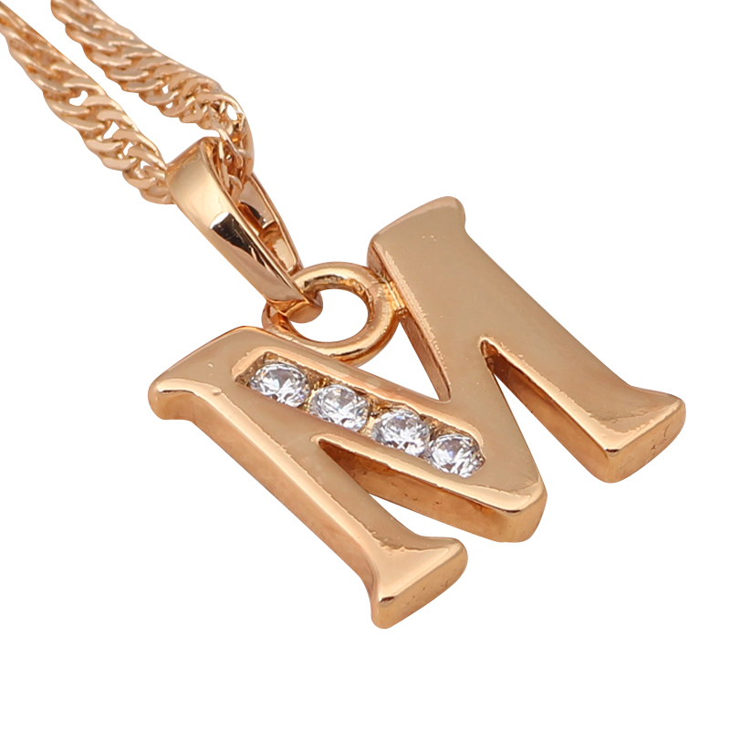Printables Pic M glittering 26 letters design m style designer wholesale k gold plated crystal necklaces pendants fashion jpg home