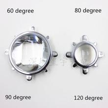 60 90 120 градусов светодиодный оптический объектив 44 мм рефлекторный коллиматор фиксированный кронштейн для 20 Вт 30 Вт 50 Вт 100 Вт COB чип высокой мощности
