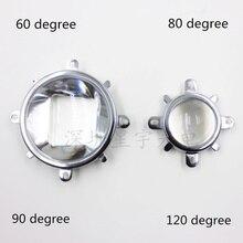 60 90 120 องศา LED เลนส์ Optical Glass 44 มิลลิเมตร Reflector Collimator วงเล็บถาวรสำหรับ 20 วัตต์ 30 วัตต์ 50 วัตต์ 100 วัตต์ COB High Power COB ชิป