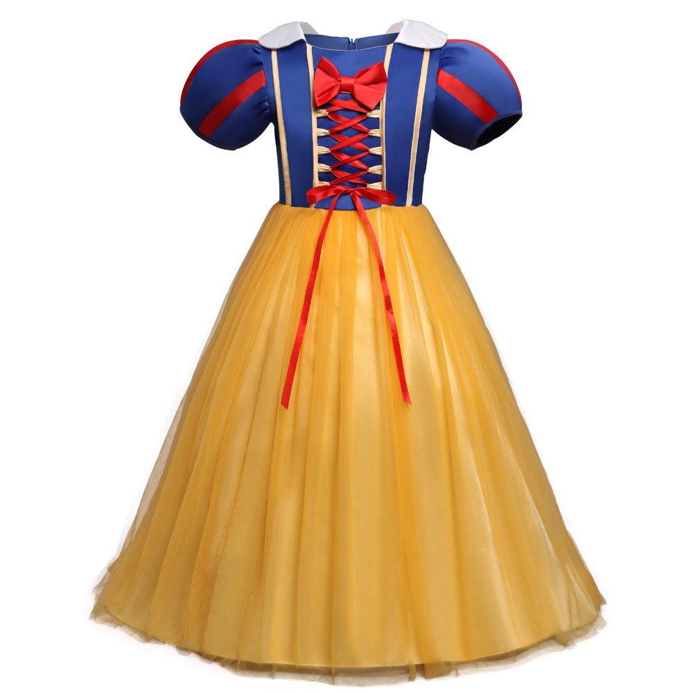 Berngi Princess Snow White Dress Cosplay Costume Baby Girl Halloween Carnival Party Toddler Girl Tulle Dresses hot sale halloween cosplay costume for women snow white princess black wigs free shipping
